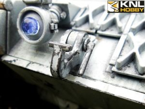 leopard-2a6-un-white-coating close-up KNL HOBBY