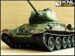 Soviet Green Coating T34-85 Tank KNL HOBBY