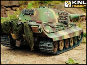 Camouflage Green King Tiger Tank KNL HOBBY